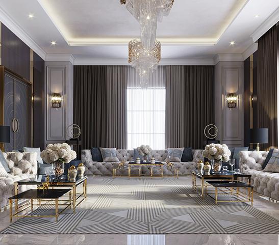 Mẫu thiết kế biệt thự mang phong cách Luxury