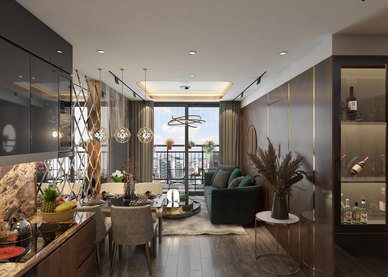 Phòng khách LUXURY tại Vinhomes Smart City