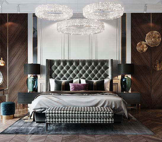 Chiêm ngưỡng 30 mẫu giường cho các tín đồ phong cách tân cổ điển